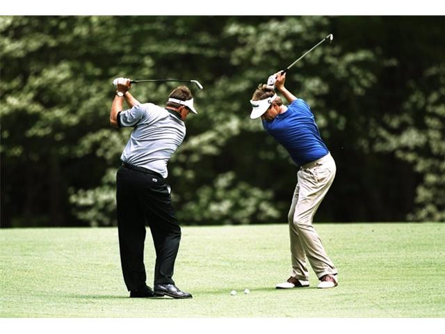 Phil Mickelson and Davis Love III at the 1998 Masters
