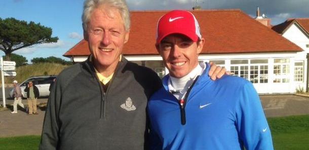 Rory McIlroy, Bill Clinton
