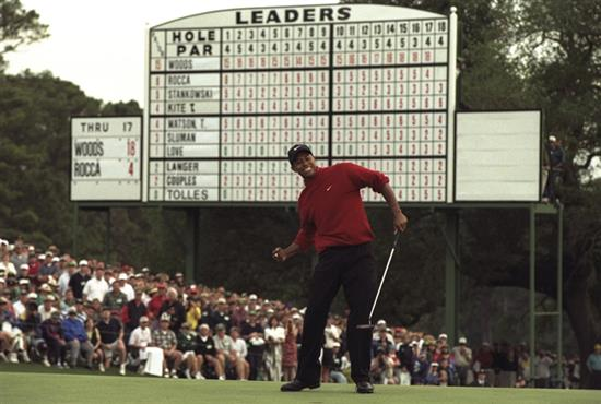 Tiger Woods at the 1997 Masters Tournament