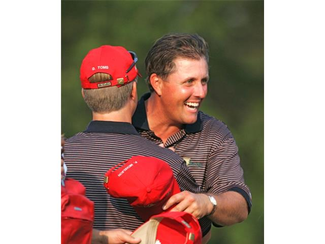 Phil Mickelson at the 2005 Presidents Cup
