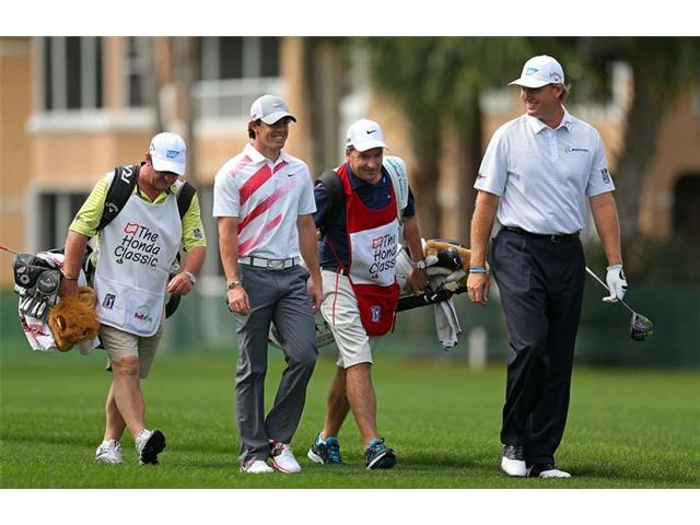 Ernie Els and Rory McIlroy