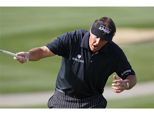Phil Mickelson at the 2013 Waste Management Phoenix Open