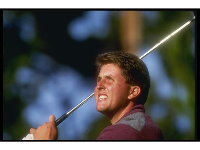 Phil Mickelson at an NCAA golfing event