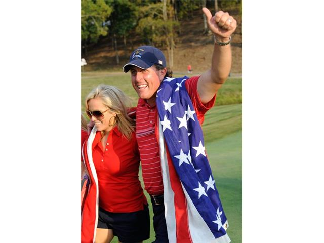 Phil Mickelson at the 2008 Ryder Cup