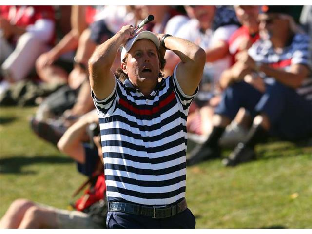 Phil Mickelson at the 2012 Ryder Cup